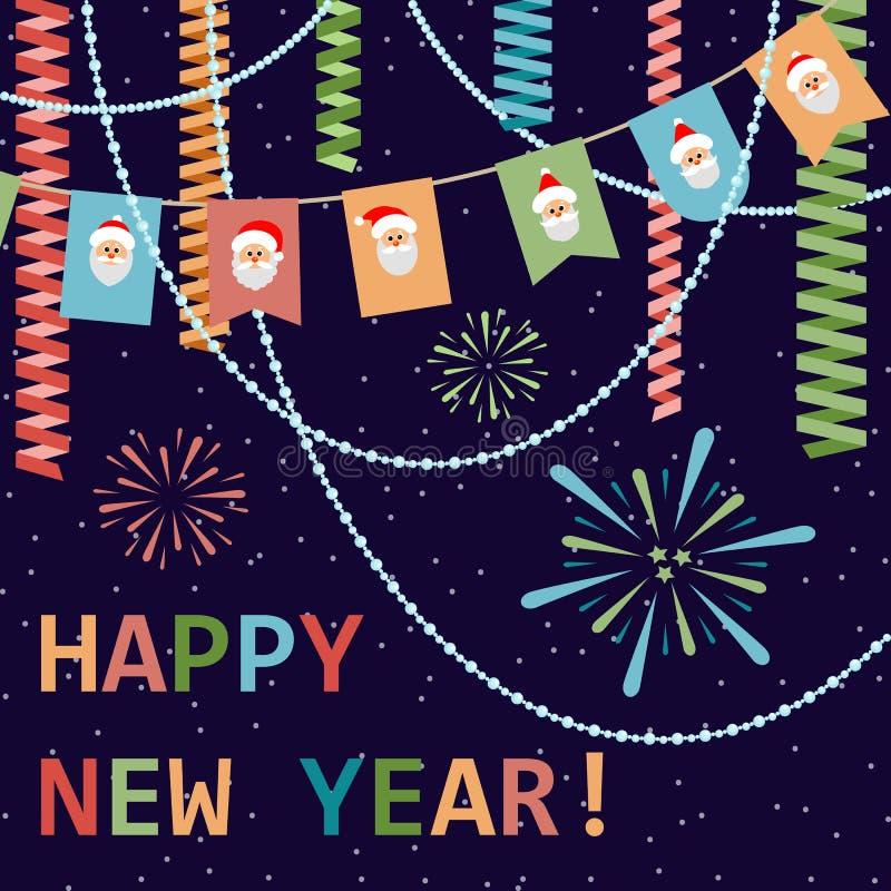 Ano novo feliz! Fundo festivo Ilustração do vetor ilustração do vetor