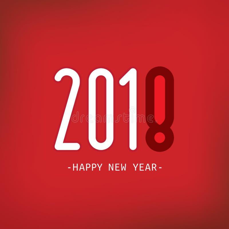 Ano novo feliz 2018 Ilustração do vetor ilustração stock