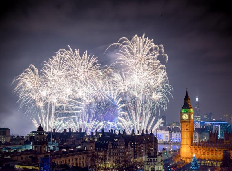 Ano novo feliz Londres imagens de stock