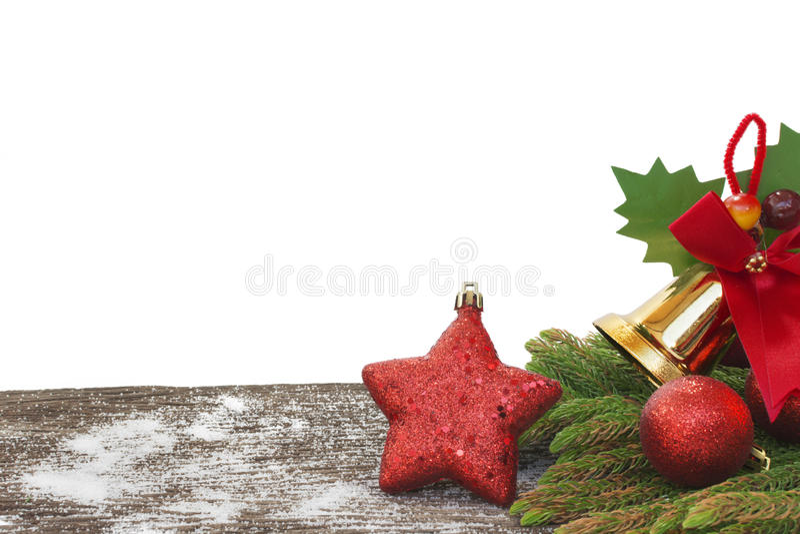 Ano novo feliz, Natal, isolado do Feliz Natal no fundo branco imagem de stock