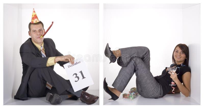 Ano novo feliz nos cubos fotos de stock