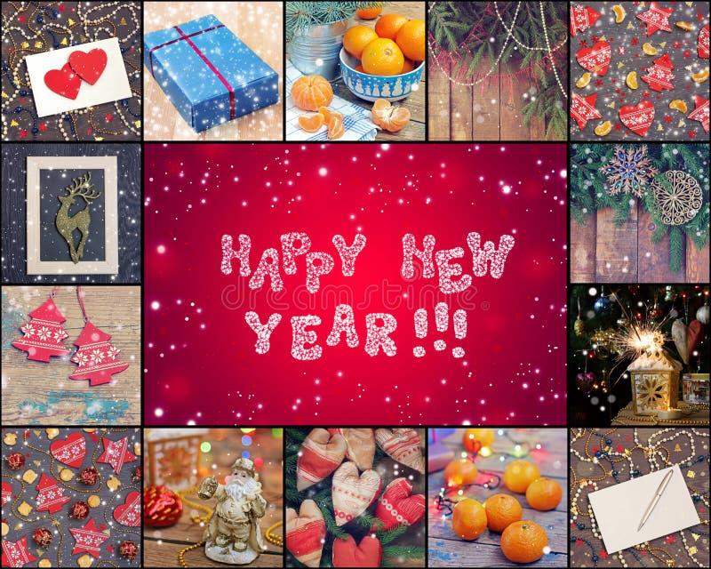 Ano novo feliz! O fundo cor-de-rosa de ano novo foto de stock royalty free