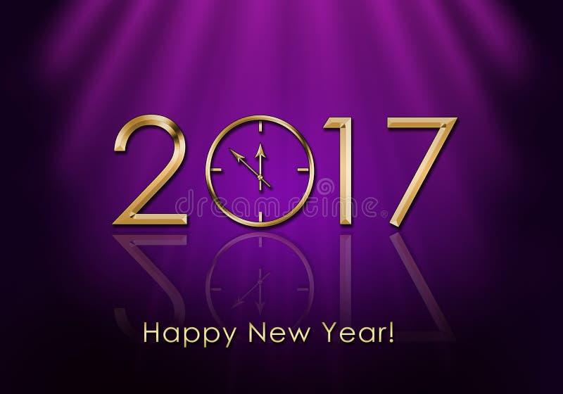 Ano novo feliz 2017 Pulso de disparo do ano novo ilustração royalty free