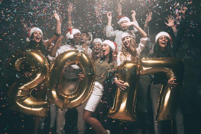 Ano novo feliz a você! foto de stock