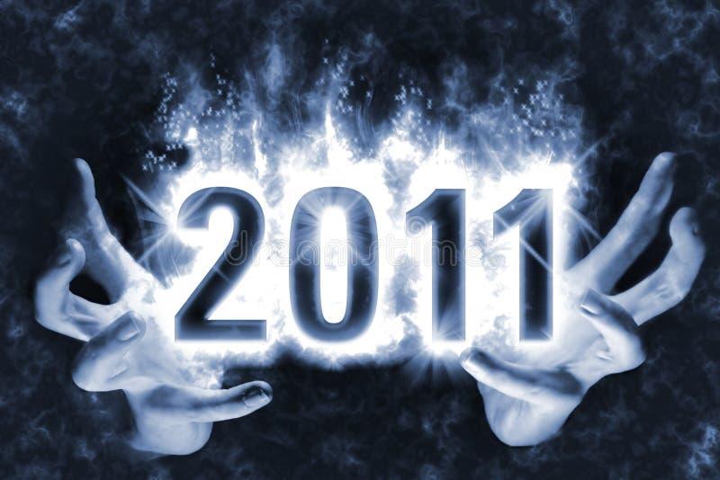 Ano novo mágico 2011 ilustração do vetor