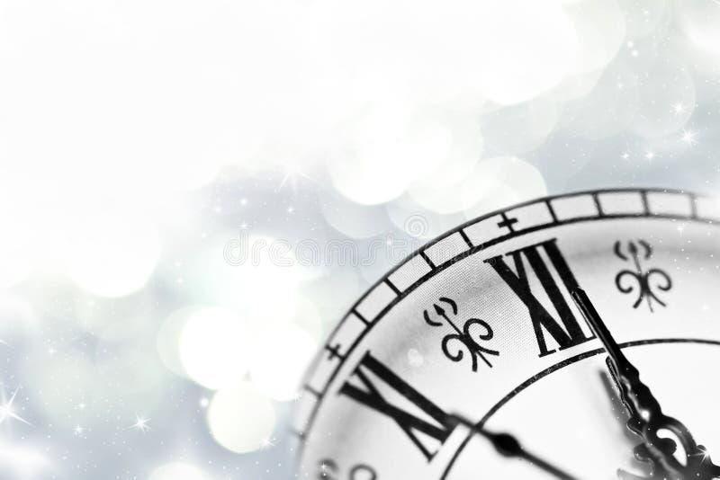 Ano novo na meia-noite fotos de stock royalty free