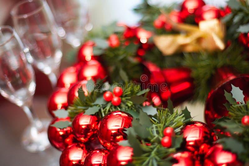 Ano novo, Natal, decoração, festão fotografia de stock royalty free