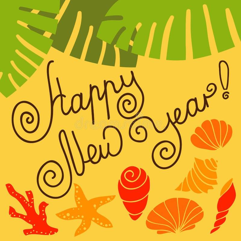 Ano novo nos trópicos ilustração stock