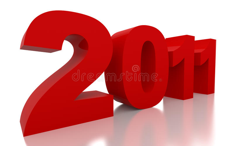 Ano novo vermelho 2011 ilustração royalty free