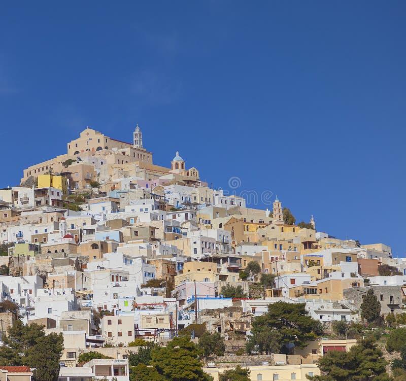 Ano Syros Landmark Photography. stock photo