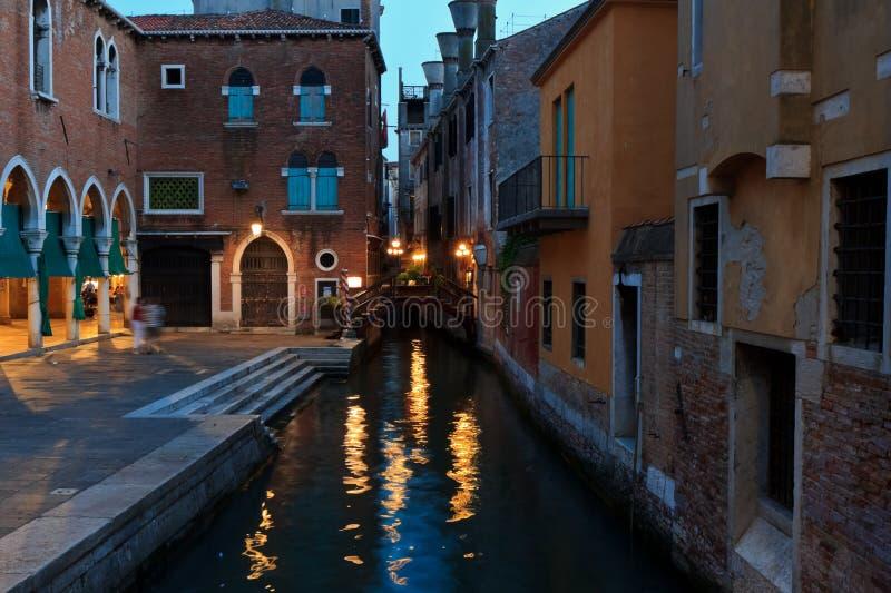 Anoche en Venecia fotografía de archivo