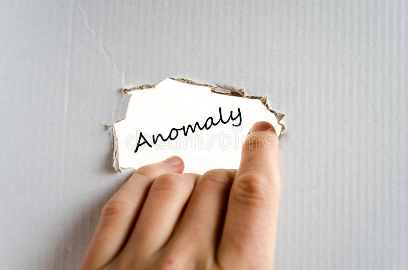 Anomaly text concept royalty free stock photography