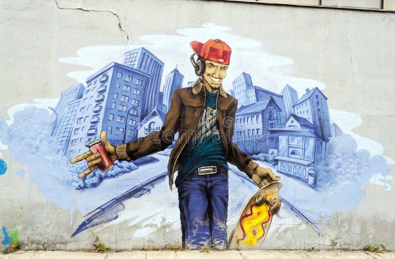 Anoniem graffitibeeld royalty-vrije stock afbeeldingen