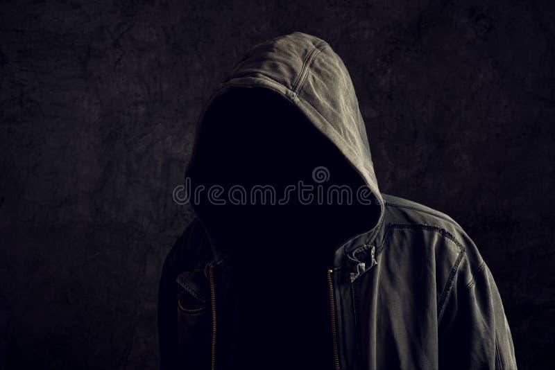 Anonieme onherkenbare mens zonder identiteit royalty-vrije stock afbeelding