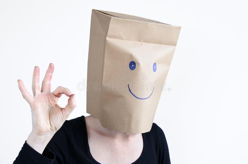 Anonimowa szczęśliwa kobieta obraz stock