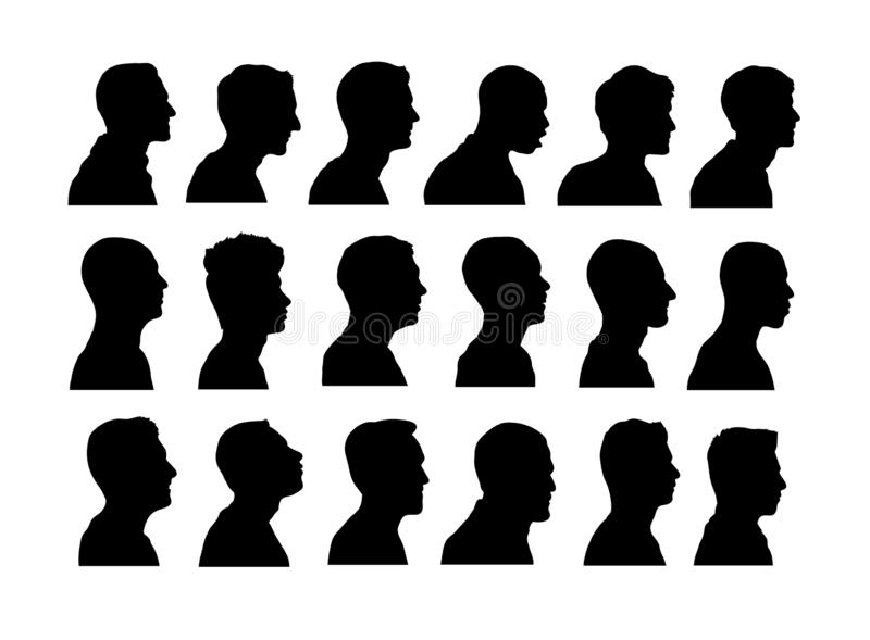 Anonimowe Avatar sylwetki, sztuka wektorowy projekt royalty ilustracja
