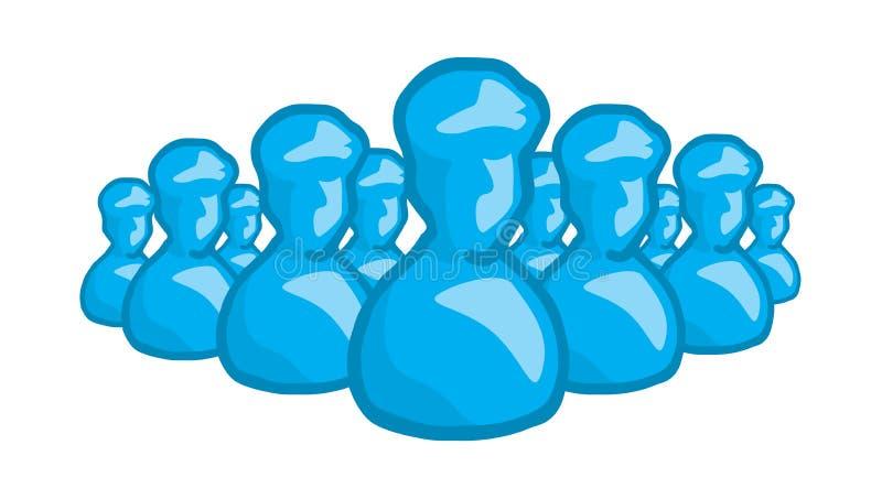 Anonimowego avatar grupowy lub niewiadomy wojsko ilustracji