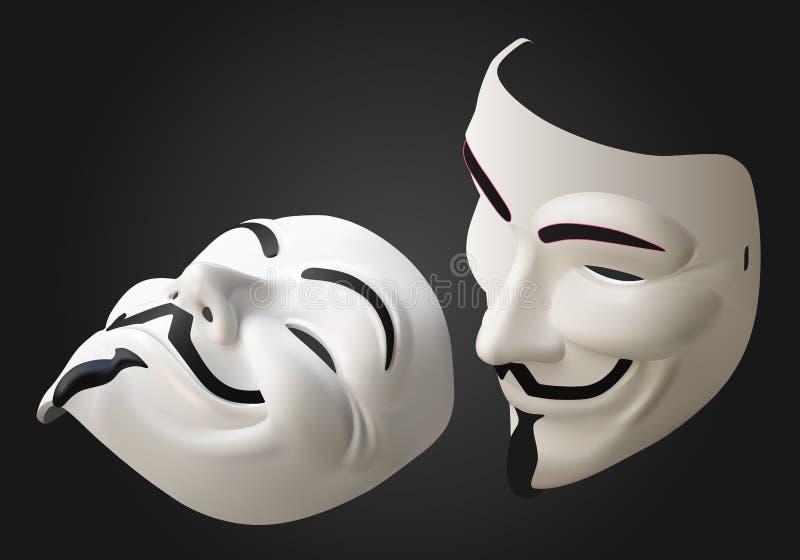 Anonimowy maskowy wektor 3d isometric royalty ilustracja