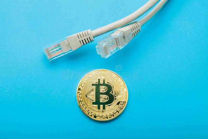 Anonym valuta för betalning via internet är bitcoin fotografering för bildbyråer