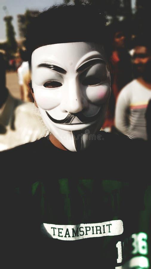Anonyme Maske stockbilder
