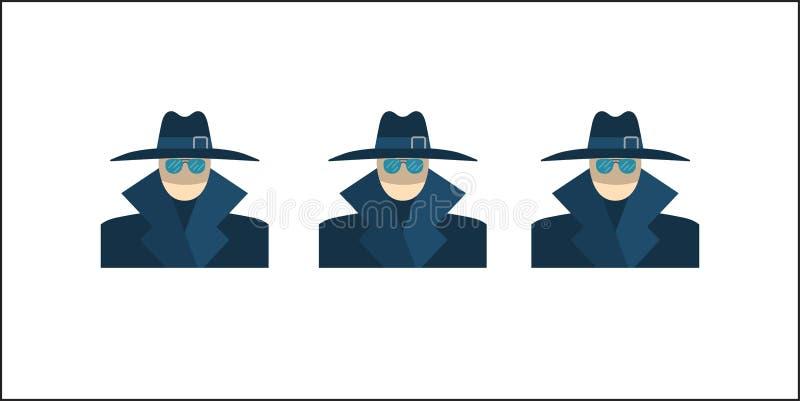 Anonyme Vektor-Ikone vektor abbildung