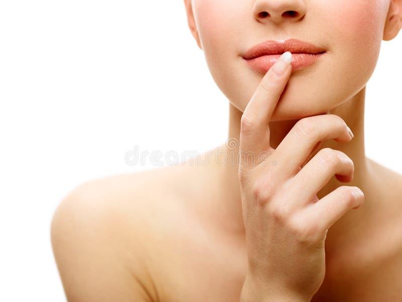 Anonymes Schönheitsporträt lizenzfreie stockfotos