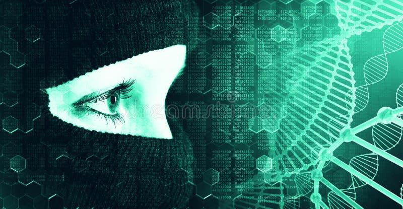 Anonymiteten av internetbakgrunden royaltyfri bild