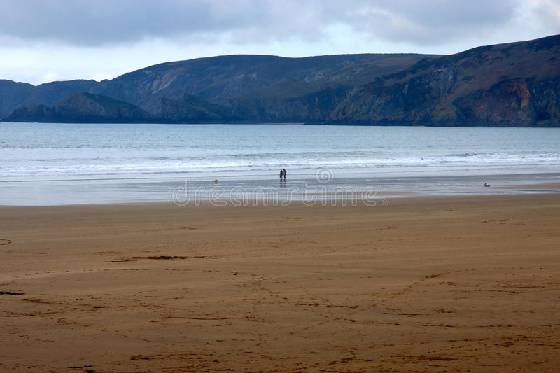 Download Anonymous Couple In Silouhette Walking The Beach Stock Images - Image: 24467284