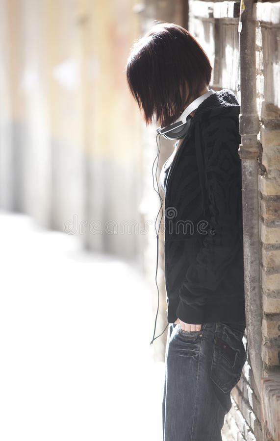 Anonymous Girl Portrait Stock Image