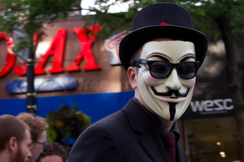Anonymous Mask. Editorial Stock Image