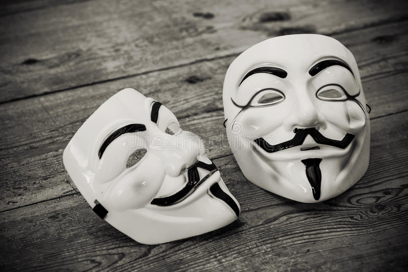 Download Anonymous mask editorial stock photo. Image of business - 33584408