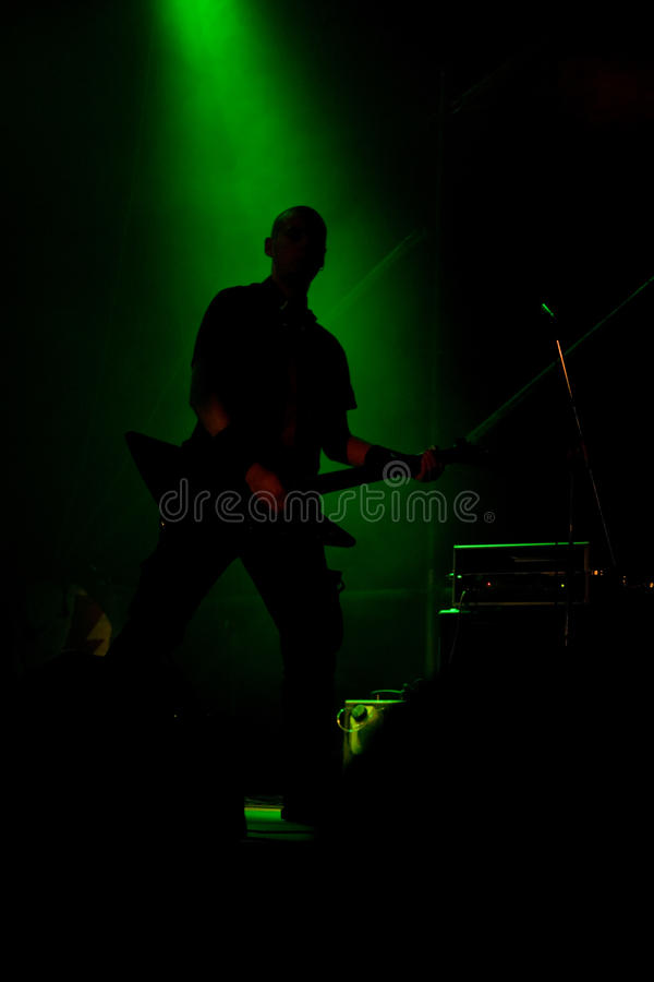 Download Anonymous Musician On The Stage Stock Photo - Image of backlight, laser: 10354388