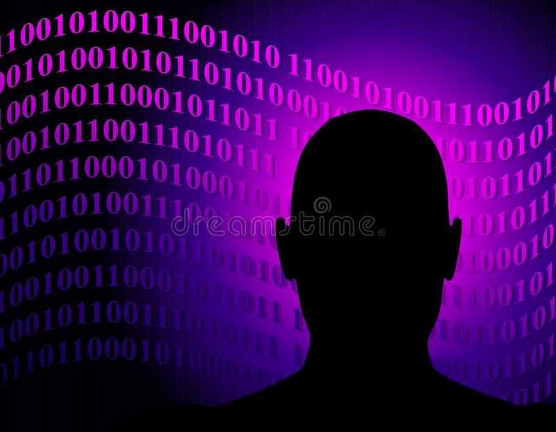 Anonymous Network Binary Code vector illustration