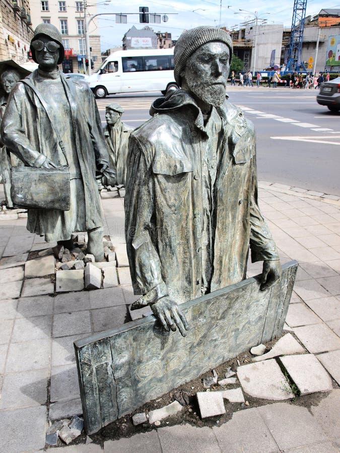 Anonymous Pedestrians, Wroclaw, Poland Editorial Stock Photo