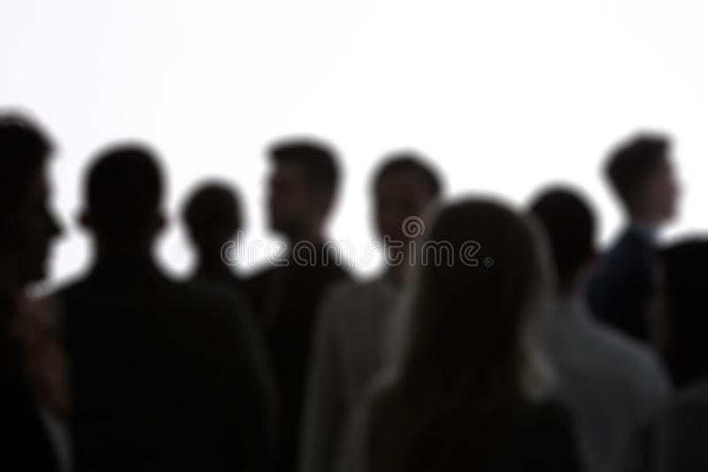 Anonymous people standing stock images