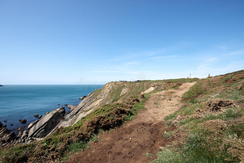Download Anonymous Walkers On The Coastal Path Stock Image - Image: 24790339