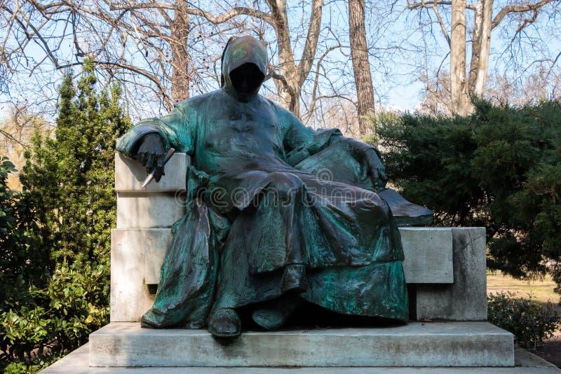 Anonymus雕象在布达佩斯,匈牙利 库存图片