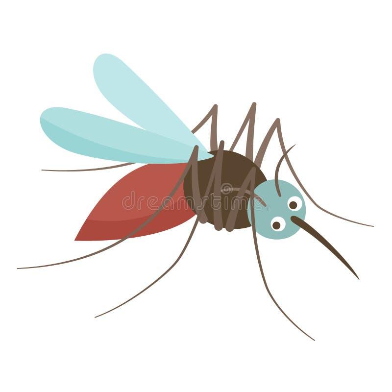 Anopheles komar pije krew Wirusowy źródło choroby, niebezpieczny insekt ilustracja wektor