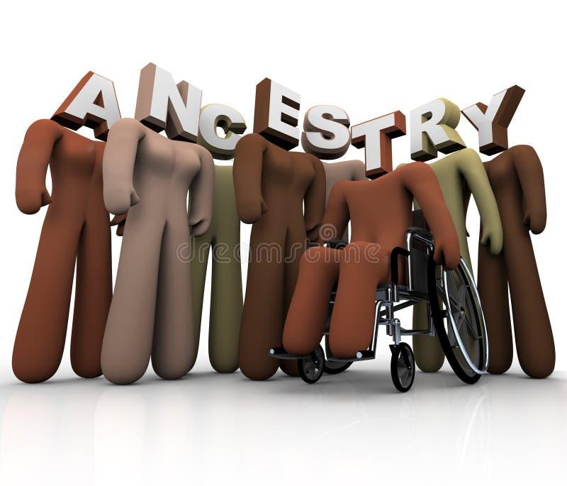 Anor - folk i släktforskningförfäder av Hearitage stock illustrationer