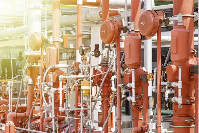 Anordnung für das Feuerlöschsystem stockfoto