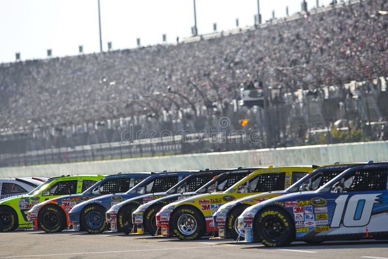 Anordnung NASCAR beginnend, sprinten Sie Cup-Serien stockfotos