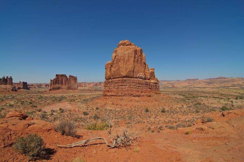 Anordnungen an den Bögen Nationalpark, Utah, lizenzfreie stockfotografie