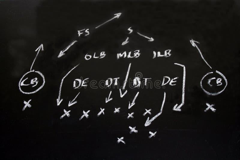 Anordnungstaktiken des NFL-amerikanischen Fußballs lizenzfreies stockfoto