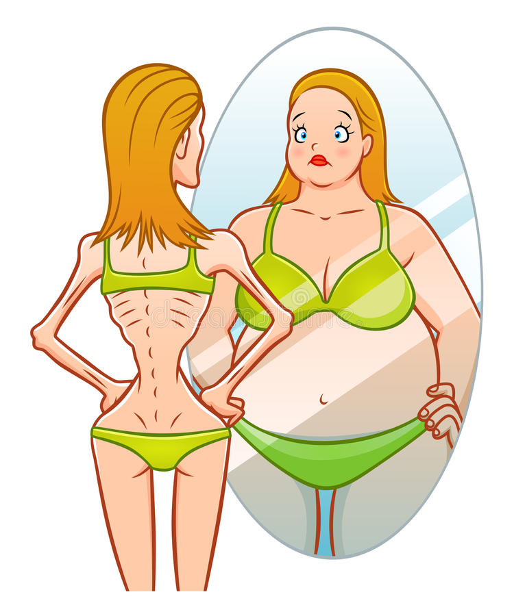 anorexia illustrazione di stock