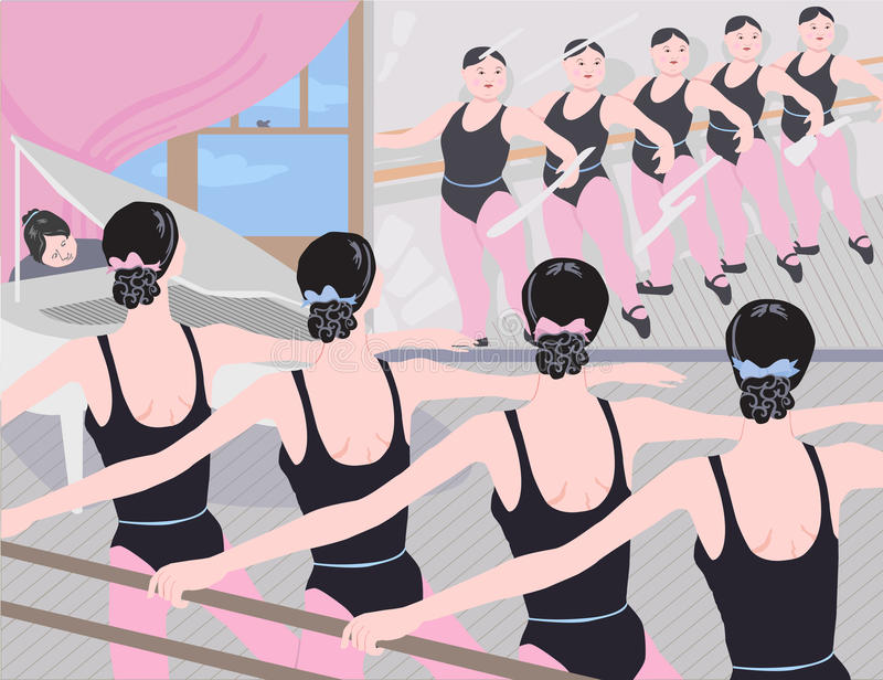 Anorexia and Dancers royalty free illustration