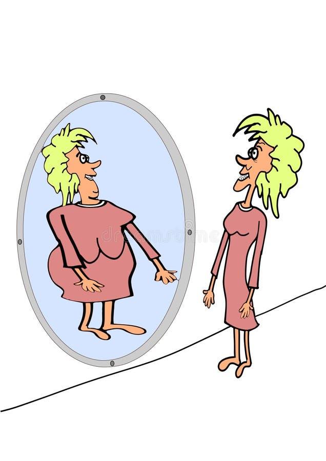 Anorexie stock illustratie