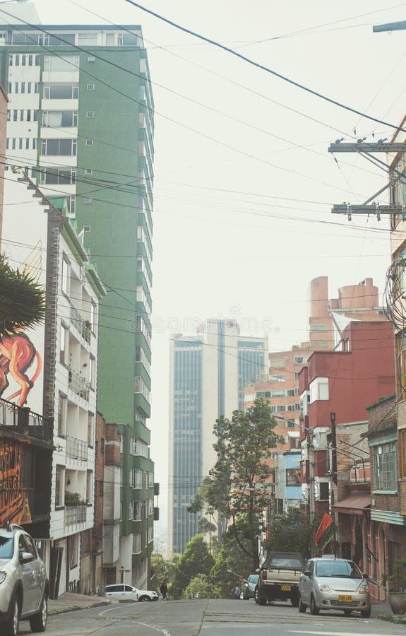 Anormaldag in de stad van Bogota stock foto's