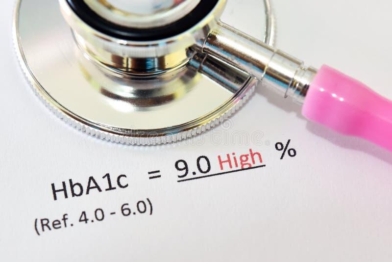 Anormales hohes HbA1c-Testergebnis stockfotografie