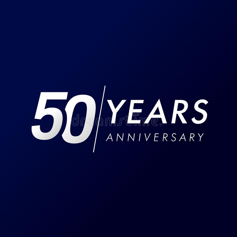 50 anos de aniversário, desde 1969 ilustração stock