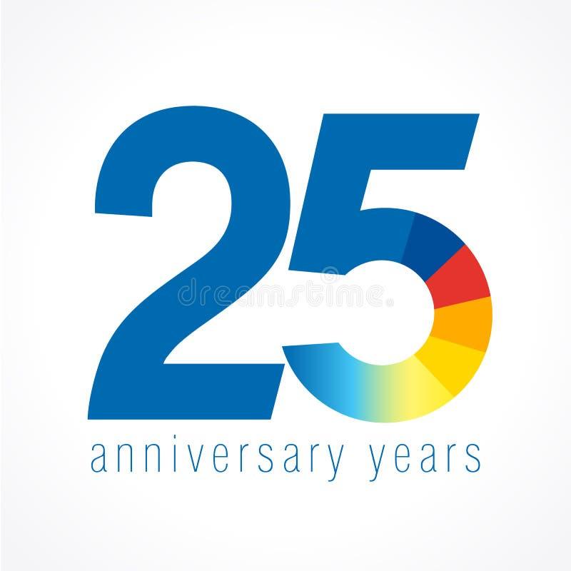 25 anos de logotipo velho ilustração do vetor